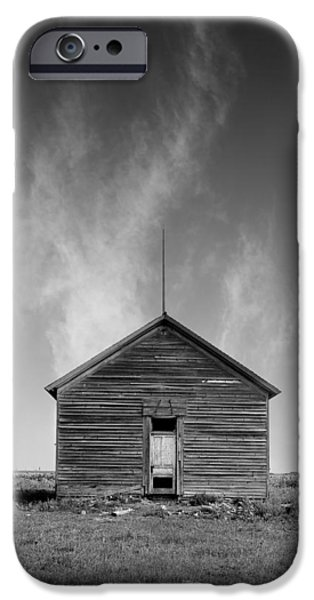 Rural Schools iPhone Cases - Defunct Country School Building - Rural North Dakota iPhone Case by Donald  Erickson