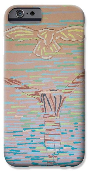 Contemporary Art Ceramics iPhone Cases - Deliverance iPhone Case by Gloria Ssali