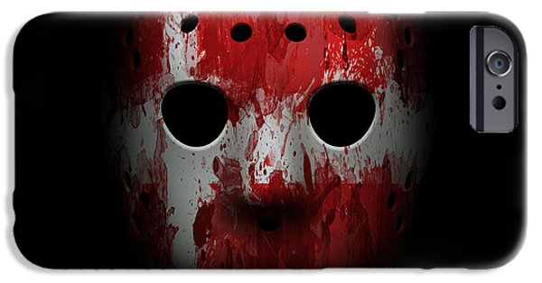 Denmark iPhone Cases - Denmark Goalie Mask iPhone Case by Joe Hamilton