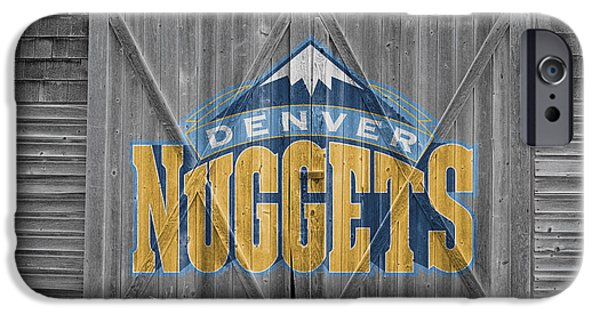 Dunk iPhone Cases - Denver Nuggets iPhone Case by Joe Hamilton