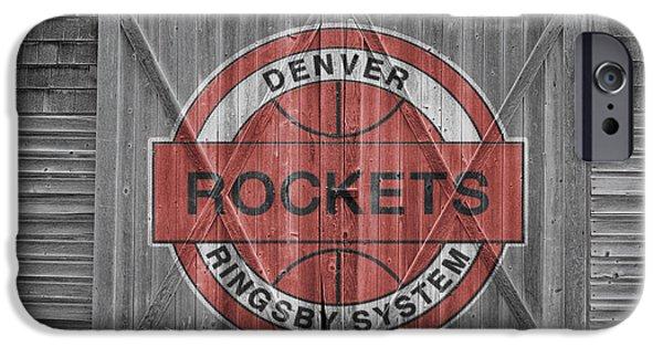 Dunk iPhone Cases - Denver Rockets iPhone Case by Joe Hamilton