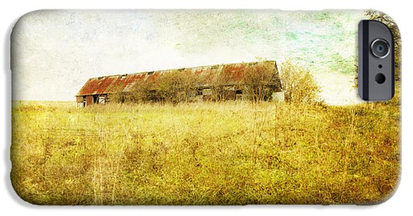Old Barns iPhone Cases - Derelict barn iPhone Case by Innershadows Photography