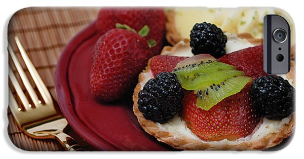 Kiwi iPhone Cases - Dessert Tarts iPhone Case by Amy Cicconi