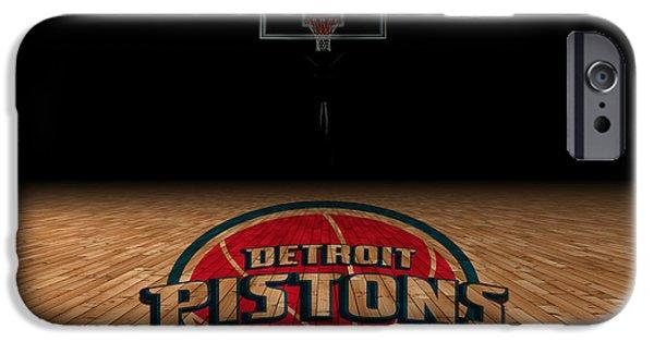 Dunk iPhone Cases - Detroit Pistons iPhone Case by Joe Hamilton
