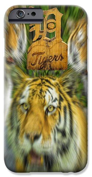 Detroit Tigers Baseball Art iPhone Cases - Detroit Tigers Baseball iPhone Case by LeeAnn McLaneGoetz McLaneGoetzStudioLLCcom