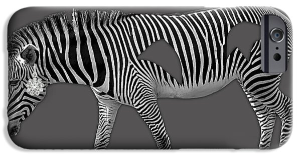 Animal iPhone Cases - Diamond in The Rough Zebra iPhone Case by Marvin Blaine