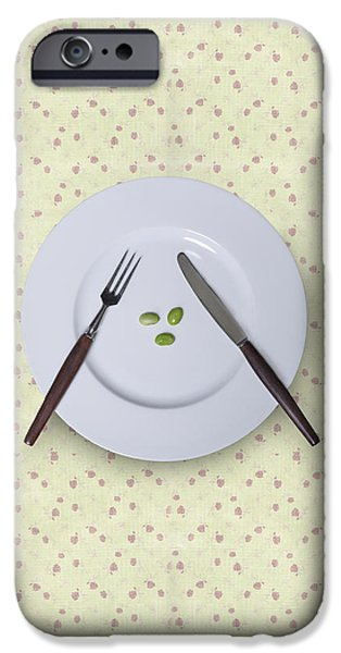 Plate iPhone Cases - Diet iPhone Case by Joana Kruse