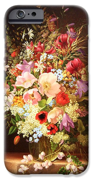 Cora Wandel iPhone Cases - Dietrichs Still Life Of Flowers iPhone Case by Cora Wandel