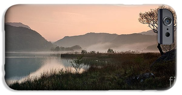 Morning iPhone Cases - Dinas Dawn iPhone Case by Ron Evans