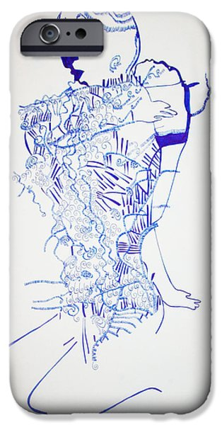 Jesus Drawings iPhone Cases - Dinka Motherhood - South Sudan iPhone Case by Gloria Ssali