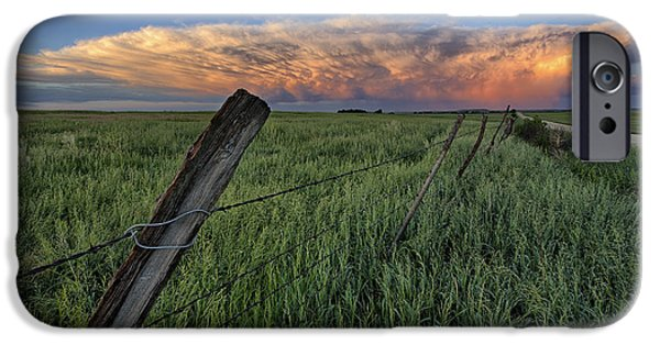 Pasture Scenes Photographs iPhone Cases - Distant Color iPhone Case by Thomas Zimmerman
