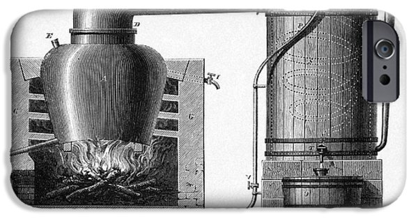 Human Spirit iPhone Cases - Distillation Apparatus, 18th Century iPhone Case by CCI Archives