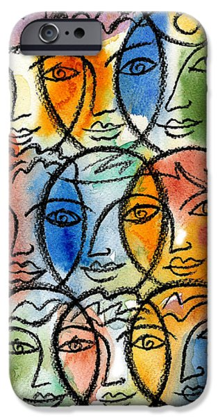 Cooperation iPhone Cases - Diversity iPhone Case by Leon Zernitsky