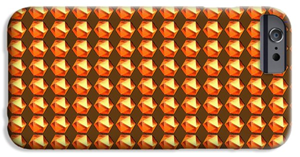Diy iPhone Cases - DIY Template Jewels Diamonds Pattern Graphic Sparkle multipurpose art iPhone Case by Navin Joshi
