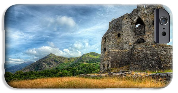 Ruins iPhone Cases - Dolbadarn Castle iPhone Case by Adrian Evans