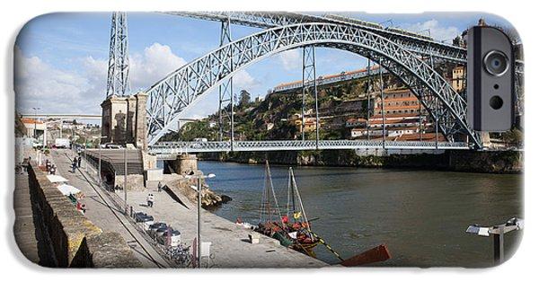 Gaia iPhone Cases - Dom Luis I Bridge in Porto iPhone Case by Artur Bogacki