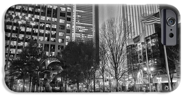 Charlotte iPhone Cases - Downtown Charlotte  iPhone Case by Mountain Dreams