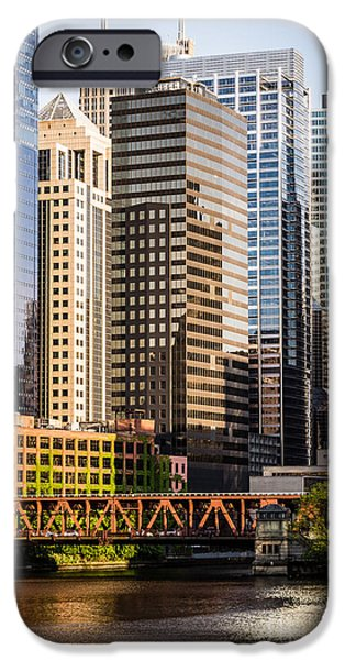 Recently Sold -  - River iPhone Cases - Downtown Chicago Buildings at Lake Street Bridge iPhone Case by Paul Velgos