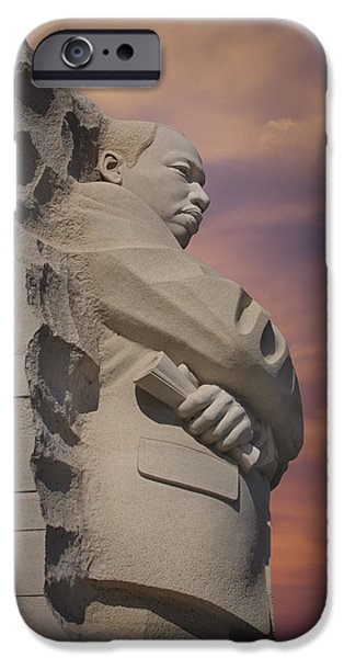 Dr. Martin Luther King Jr Memorial iPhone Case by Susan Candelario