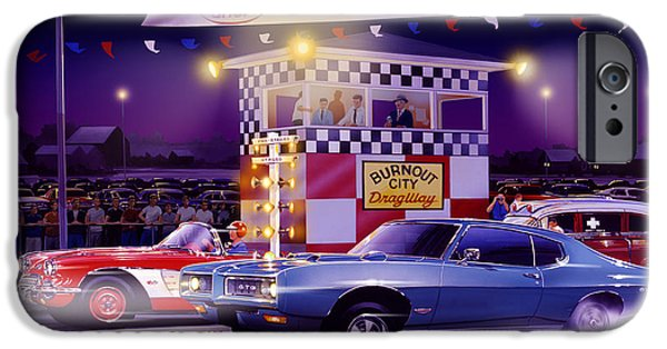 Power iPhone Cases - Drag City iPhone Case by Bruce Kaiser