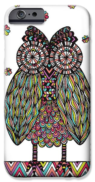 Psychedelic Photographs iPhone Cases - Dream Owl iPhone Case by Susan Claire