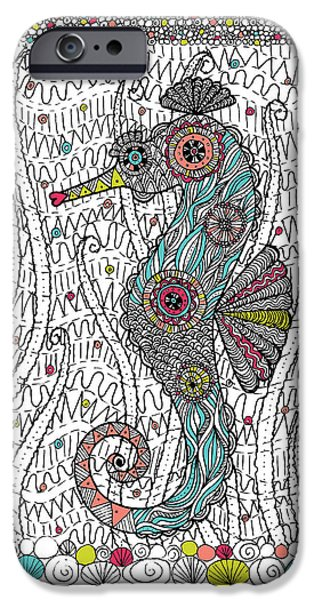 Dream Seahorse iPhone Case by Susan Claire