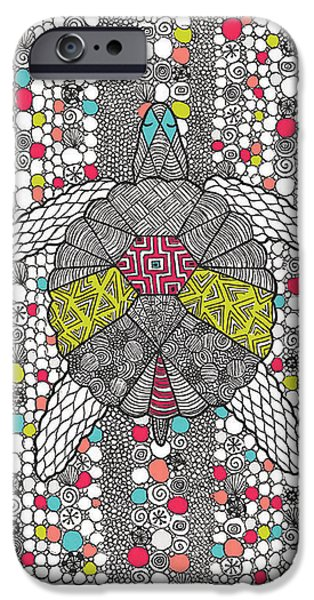 Fashion Drawings iPhone Cases - Dream Turtle iPhone Case by Susan Claire