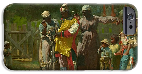 4th July Paintings iPhone Cases - Dressing for the Carnival iPhone Case by Winslow Homer