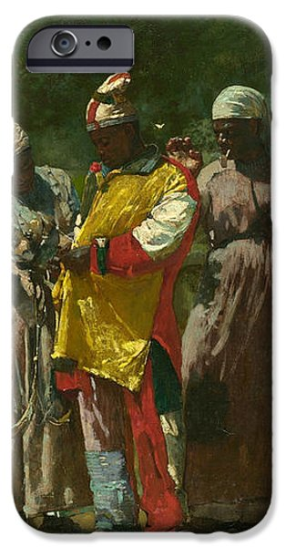 Dressing for the Carnival iPhone Case by Winslow Homer