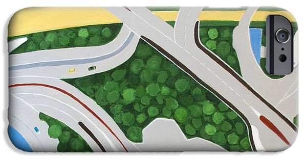 Built Structure iPhone Cases - Dubai Roadways iPhone Case by Toni Silber-Delerive