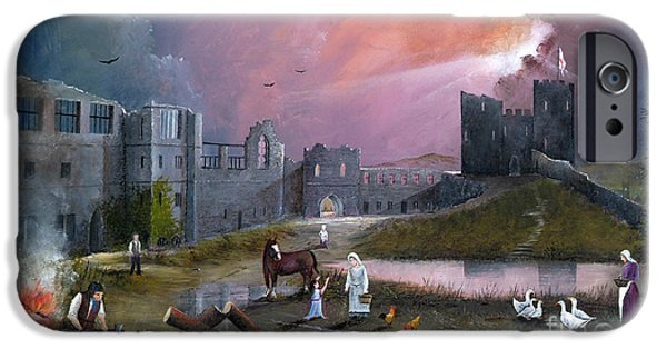 The Horse iPhone Cases - Dudley Castle 3 C1750 iPhone Case by Ken Wood