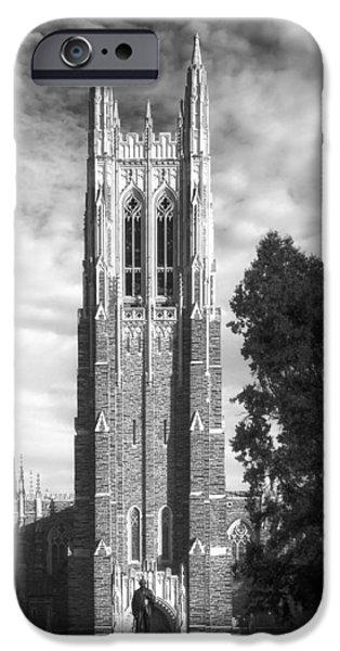 Duke iPhone Cases - Duke Universitys Chapel Tower iPhone Case by Mountain Dreams