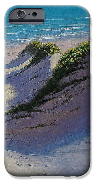 Dunes Paintings iPhone Cases - Dune Shadows iPhone Case by Graham Gercken
