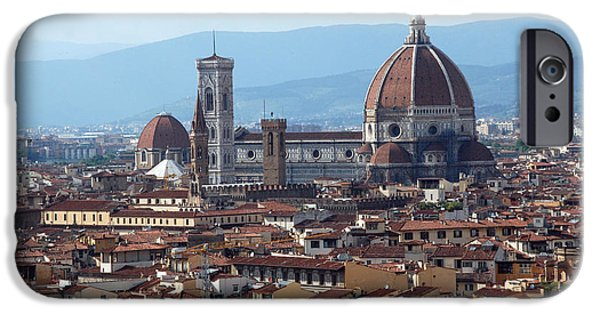 The Duomo In Florence iPhone Cases - Duomo in Florence iPhone Case by Elaine Walsh