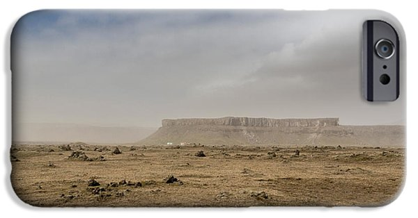 Storm iPhone Cases - Dust Storm, Eastern, Iceland iPhone Case by Panoramic Images