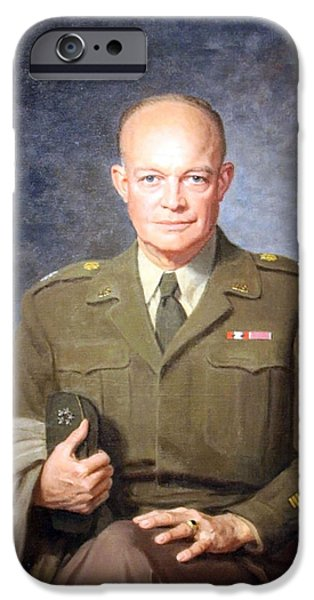 Cora Wandel iPhone Cases - Dwight D. Eisenhower -- 1 iPhone Case by Cora Wandel