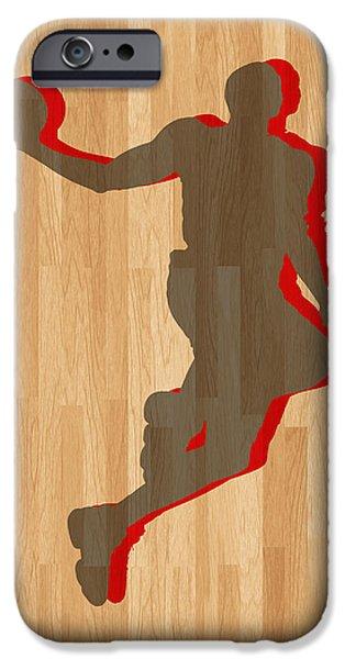 Dwight Howard iPhone Cases - Dwight Howard Houston Rockets iPhone Case by Joe Hamilton