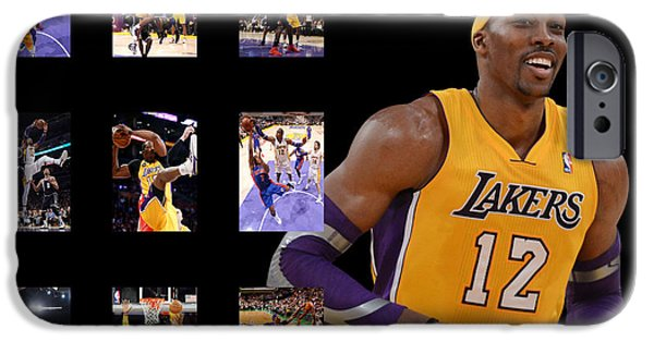 Lakers iPhone Cases - Dwight Howard iPhone Case by Joe Hamilton