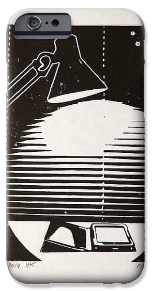 Night Lamp Mixed Media iPhone Cases - E-reading Night iPhone Case by Igor Kislev