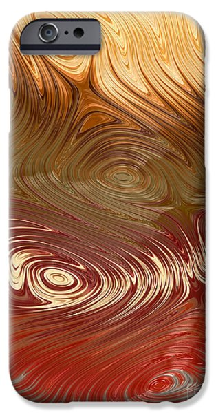 Geometric Effect iPhone Cases - Earth Tones iPhone Case by Heidi Smith