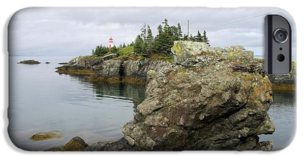 East Quoddy Lighthouse iPhone Cases - East Quoddy Lighthouse - Campobello Island iPhone Case by Christiane Schulze Art And Photography