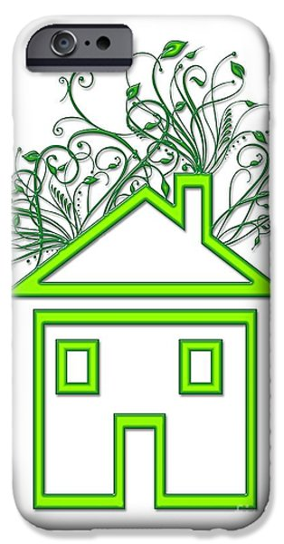 Cut-outs iPhone Cases - Eco-friendly House, Conceptual Image iPhone Case by Victor Habbick Visions