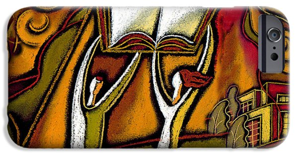 Education Paintings iPhone Cases - Education iPhone Case by Leon Zernitsky