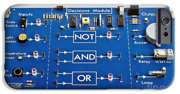 Circuit iPhone Cases - Educational Circuit Board iPhone Case by Martyn F. Chillmaid