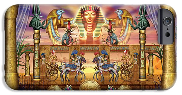 Hieroglyph iPhone Cases - Egyptian iPhone Case by Ciro Marchetti