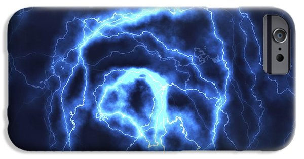 Electrical iPhone Cases - Electrical Effect, Computer Artwork iPhone Case by David Mack