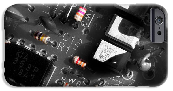 Electronic iPhone Cases - Electronics 2 iPhone Case by Michael Eingle