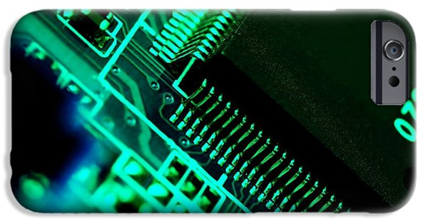 Mainboard iPhone Cases - Electronics iPhone Case by Peter Gudella