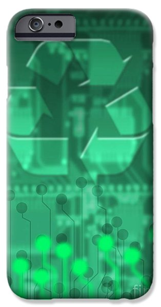 Electrical Component iPhone Cases - Electronics Recycling, Artwork iPhone Case by Victor Habbick Visions