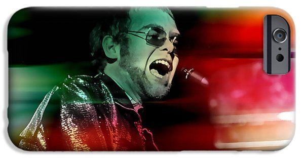 Elton John iPhone Cases - Elton John iPhone Case by Marvin Blaine